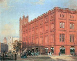 Die Bauakademie Berlin im Jahre 1868, Quelle: Zeno.org, (Nr. 20004023463) / Wikimedia Commons
